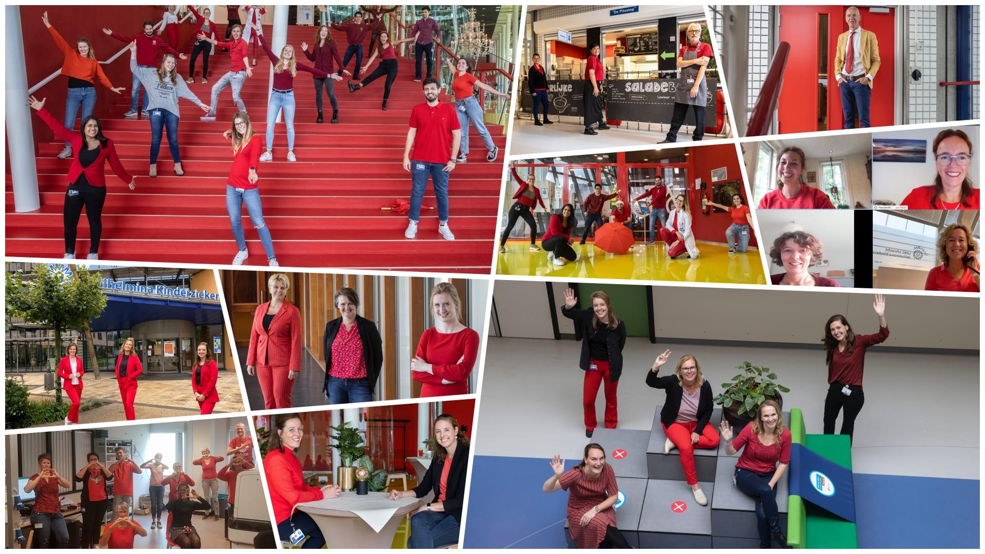 Dress Red Day in het UMC Utrecht 2020